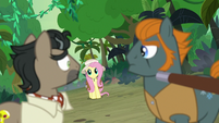 Caballeron and Rogue look at Fluttershy S9E21