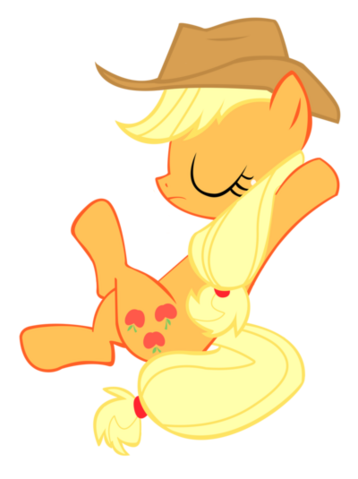 File:FANMADE Applejack Sit Vector.png