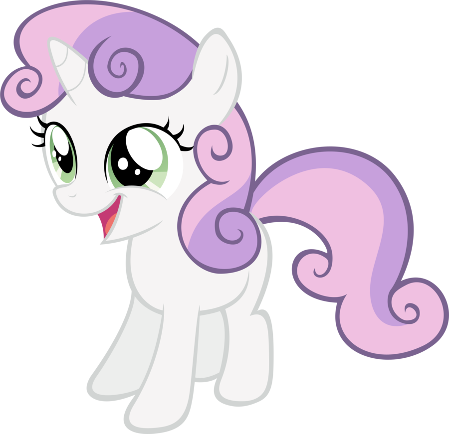 FANMADE Cheerful Sweetie Belle By RyantheBrony