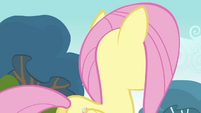 Fluttershy about to turn around S2E22