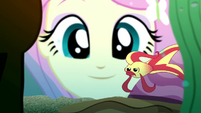 Fluttershy looking at a betta fish SS7