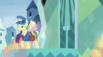 Mail Pony walks away from Sunburst's house S8E8