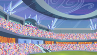 Pinkie Pie hopping in the top row S4E24