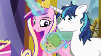 Princess Cadance levitating stuffed Whammy toy S7E3