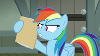 Rainbow Dash discrediting the news articles S7E18