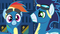 Rainbow Dash hears Spitfire's voice S6E7.png