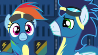 Rainbow Dash hears Spitfire's voice S6E7