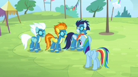 Rainbow meets the Wonderbolts S4E10