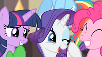 Rarity happy S4E08