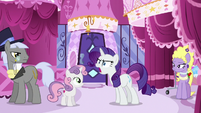Rarity shouting in Carousel Boutique S6E14