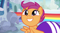 Scootaloo introduces herself to Bow and Windy S7E7