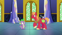 Spike and Big Mac hear fanfare S6E17