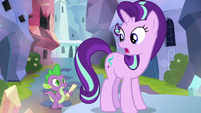 Starlight Glimmer replying to Spike S6E1