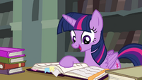 Twilight mentions Discord's bookmarks S4E25