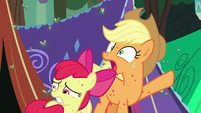 "Applejack ""everypony, run for cover!"" S7E16"
