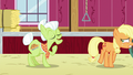 Applejack sneaks away as Granny tells her story S6E23.png
