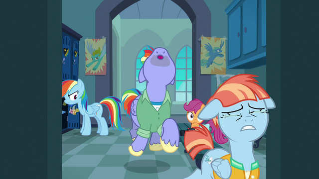 File:Bow and Windy leave the locker room in tears S7E7.png