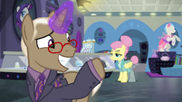 Bracer Britches waves goodbye to Fluttershy S8E4