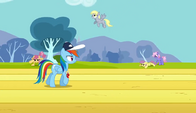 Derpy flying in the background S2E22