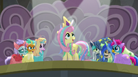 "Fluttershy ""time for a new day in Equestria!"" S8E7"