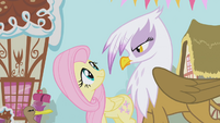 Fluttershy collides with Gilda S1E05