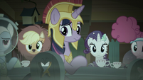 Main five looking at Fluttershy S5E21