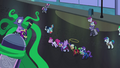 Mane-iac cackling over frozen ponies S4E06.png