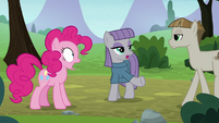Maud Pie introducing Pinkie to Mudbriar S8E3