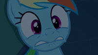 Rainbow Dash looking really scared S6E15