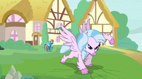 Silverstream does a superhero landing S9E3
