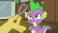 Spike suddenly having second thoughts S8E10