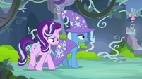 Starlight and Trixie leave the feelings forum S7E17
