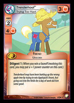 Trenderhoof, Trying Too Hard card MLP CCG