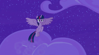 Twilight Sparkle emerges through the clouds S8E7