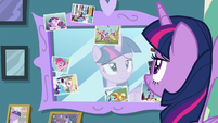 Twilight Sparkle looking at her mirror S7E1