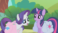 Twilight and Rarity -we're having the same problem- S1E10