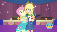 Applejack puts an arm around Fluttershy EGDS35