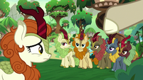 Autumn Blaze looking at her friends S8E23