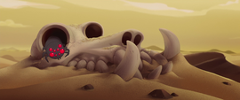 Creature's skull in the Bone Dry Desert MLPTM