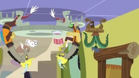 Discord duplicates playing cards on ceiling S7E12