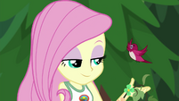 Fluttershy accepting help from the red robin EG4