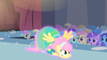 Fluttershy magically dragged S1E20.png