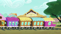 Friendship Express leaving the station S9E22