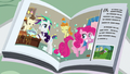 Magazine photo of Rarity helping Pinkie Pie S7E19.png