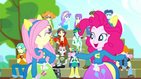 "Pinkie ""thanks for joining my cheering club"" SS4"