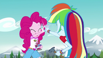 Pinkie Pie and Rainbow Dash high-five EG4