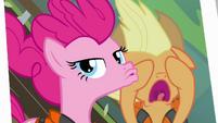 Pinkie Pie duckface photo with Applejack S4E09