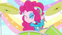 Pinkie Pie singing on drums EG2