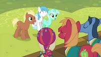 Ponies listening to the Ponytones S4E14