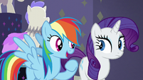 "Rainbow Dash ""right this way, everypony"" S6E9"